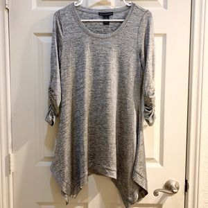 Grace Elements Tops - GRACE ELEMENTS Grey/Gold Asymmetrical Tunic Size S